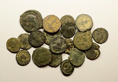 Lot Of 20 Imperial Roman Bronze Coins For Identifying - 031