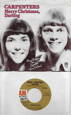 carpenters merry christmas darling mr guder 45 with picsleeve from 1970