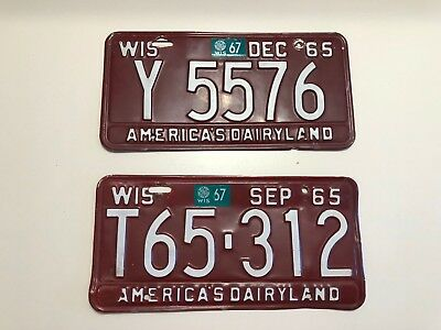 1965 Wisconsin License Plates