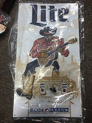 New Lite Beer Houston Rodeo Metal Sign Size 18x10