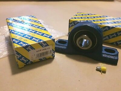 1 pair of New SNR Pillow Block Unit Mounted Bearings UCP204-12