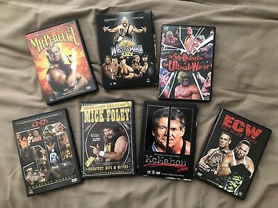 WWE WWF ECW Wrestling Wrestlemania 25 Lot DVDs McMahon Foley Triple HHH Big Show