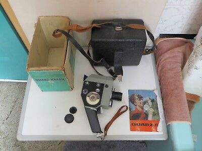 A Nice Boxed Quarz 5 Ussr 8Mm Cine Camera Plus Lens And Case , Great Working ,gc