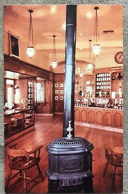 Pot-bellied Stove And Hanging Chandelier Set The Mood Of Upjohn Drugstore Disney