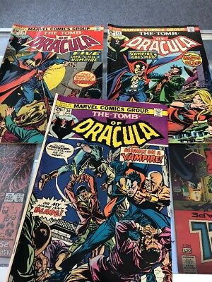 Tomb of Dracula 28 Blade app on cover 29 30 comic lot