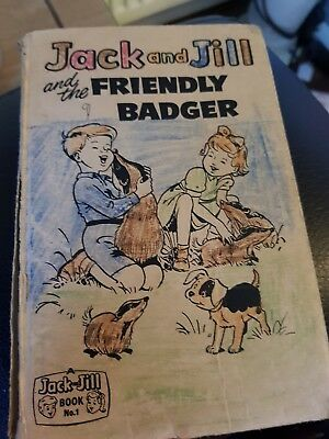 Jack And Jill And The Friendly Badger No.1 1961 fleetway publication England