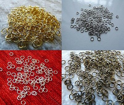 100pcs Open Jump Rings for Jewelry 5mm Split Clasp Connector Gold/Silver/Bronze