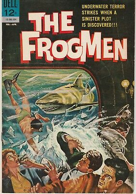 Dell THE FROGMEN #3 very good minus, Silver Age 1962