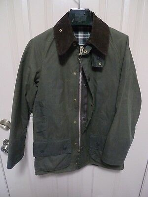 Barbour - A150 Beaufort Waxed Cotton Jacket- Sage-Made In England-Sage -Size 34