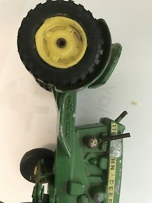Vintage 1950's Ertl John deere yard Tractor Die Cast Farm Toy With Lever USA