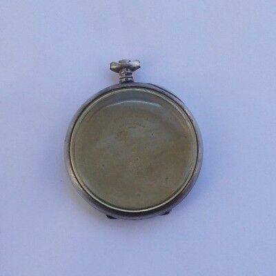 """RARE Vintage Antique 1.75"""" Sterling Silver Pocket Watch Case Recta Co. Swiss NR"""
