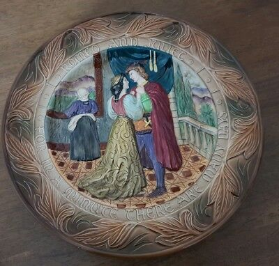 BESWICK Shakespeare Large Relief Plate / Charger - Romeo and Juliet vgc