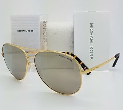 New Michael Kors sunglasses MK5016 10245A 60 Gold Silver Aviator 5016 Kendall I