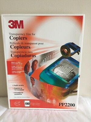 3M Transparency Film for Copiers, PP2200, New, Open Box, 100 Sheets