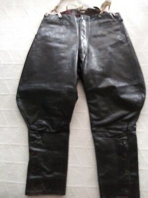 Leather Police Vintage Motorcyle Breeches  36
