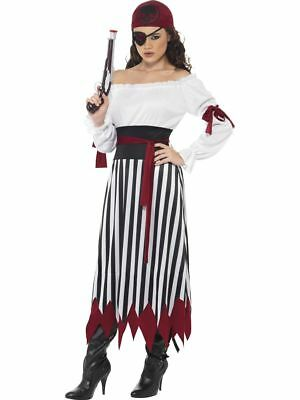 Pirate Lady Buccaneer Swashbuckler Adult Halloween Costume SMALL NEW