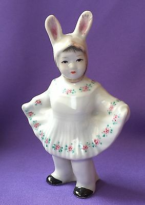 Vintage Chinese Porcelain Figurine  Antique China Jingdezhen  children Statue