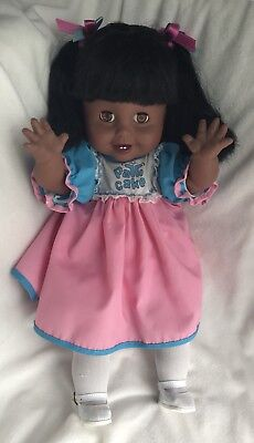 """Eegee 16"""" Patti Cake 1983 African American Doll In Excellent Condition"""