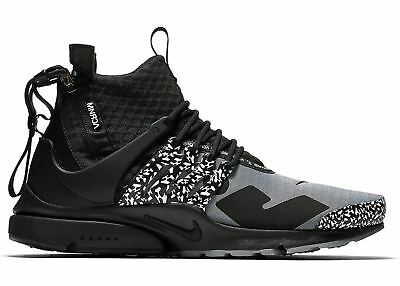 sports shoes a9d46 f12d2 Nike DS Air Presto Mid Acronym NRG AH7832-001 Cool Grey Black Limited Size 8
