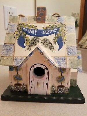 NEW Kathy Hatch Topiary Garden Collection Bird House