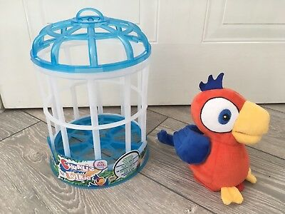 Talking 'Charlie' Parrot Toy With Cage