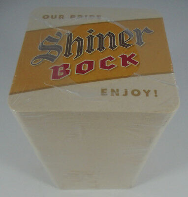 "New sealed sleeve of 125 ""Shiner Bock Our Pride Enjoy!"" coasters Spoetzl Brewery"