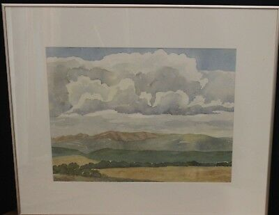 "Original  Water Color Gloria Brinkerhoff ""hills East Of Cardston"""