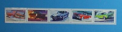 Mustang GTO Charger Plymouth Chev USA MUSCLE CARS 2012 STAMP SET - MINT 5 STAMPS