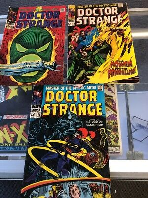 Doctor (Dr.) Strange 173 174 175 (Marvel 1968)