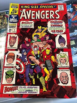 Avengers Annual King Size Special #1 (Marvel 1967) New Avengers Team Up