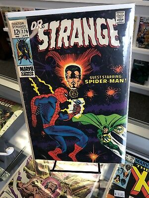 Doctor (Dr.) Strange #179 (Marvel 1969) Spider-man app -
