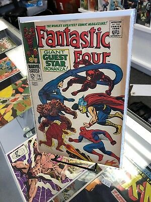 The Fantastic Four #73 (Marvel 1968) Spider-man Thor on cover