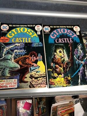 Tales of Ghost Castle 1 2 (1975) 1st app Lucien the Librarian of Gaiman Sandman