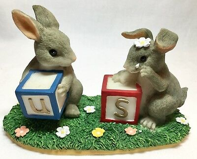 Charming Tails Figurine THERES NO US WITHOUT U 89/703 Mice With Blocks EUC