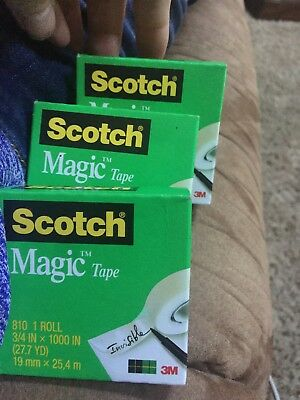 Scotch(R) Magic(TM) 810 Magic  Tape, 3/4in. x 1000  3 Rolls