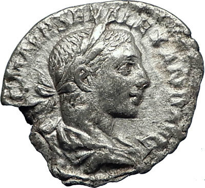 SEVERUS ALEXANDER 222AD Authentic Ancient Silver Roman Coin Providentia i70453