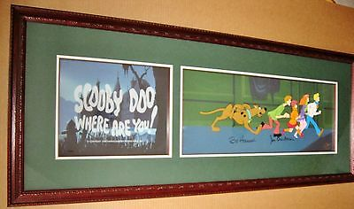 "FIRST HB 'SCOOBY DOO WHERE ARE YOU"" Signed SUPER RARE PAN CEL w/ TITLE CEL& COA"