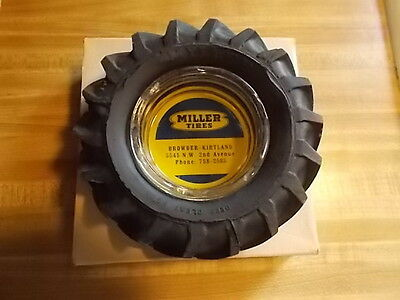 New Old Stock Vintage Miller Tire Ashtray Mint In Box