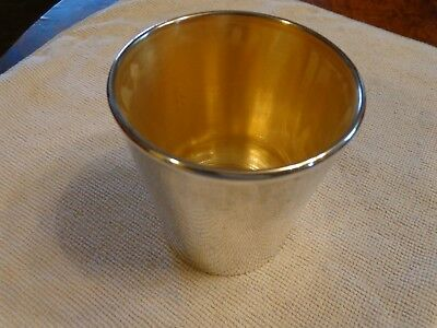 Reed & Barton Sterling Silver Glass Lined Julep Cup X 577 Gilt Inside