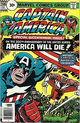 Captain America 200 (Marvel 1976) - 30 Cent Variant Cover - Very Fine! - Falcon
