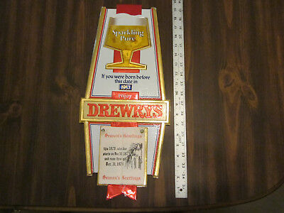Drewrys Beer Advertising Wall Clendar