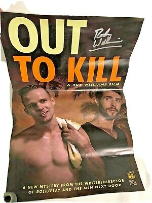 Out To Kill Rob Williams Film Autographed Signed Movie Poster Gay Interest Lgbtq