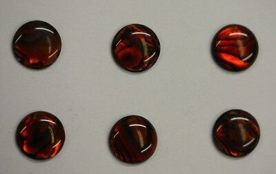 4 Red Paua Shell Round Cabochon Calibrated 4mm 5mm 6mm 7mm 8mm 10mm 12mm 14mm