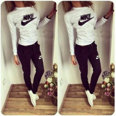 Autumn Women Girl Tracksuit Hoodies Sweatshirt Pant Sets Sport Wear Casual Suit