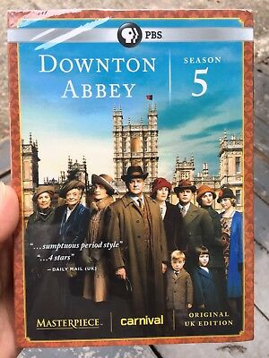 Brand New, DOWNTOWN ABBEY:Season 5 Five, 3 Disc, UK EDITION, (DVD, 2015) DVD Set