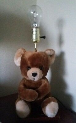 Vintage California Stuffed Toys Co. Brown Plush Teddy Bear Lamp