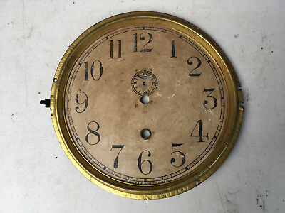 "Antique 8"" Waterbury Time Only Clock Face for  Parts / Repair ML133"