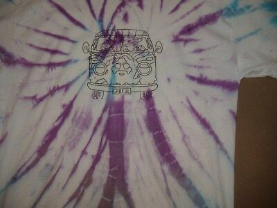 Grateful Dead Jerry Garcia VW Bus tie dye shirt New, size Large