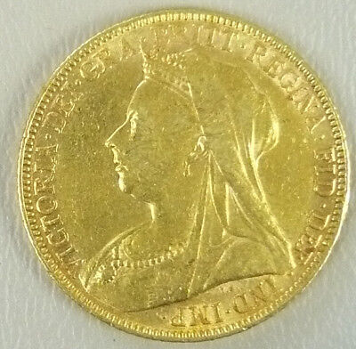 FULL BRITISH GOLD SOVEREIGN from 1900 great condition coin. Trusted Seller!