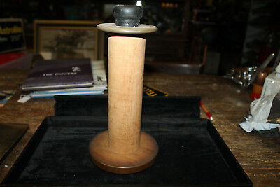"""Large  10.5"""" Antique Vintage WOODEN Thread Spool Industrial Bobbin Quill (hh)"""